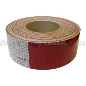 "Reflexite 18806 V92 Daybright Roll, 11"" Red/7"" White Conspicuity Tape - 2 in. x 150 ft., DOT-C2"