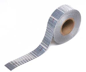 Reflexite 18796 Silver Conspicuity Tape - 2 in. x 150 ft. Roll