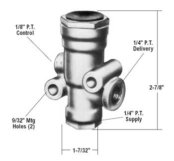 Bendix 281459X TR-3 Inversion Valve - 35 & 70 PSI