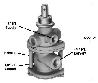 Bendix 288239X PP-7 Push/Pull Trailer Supply Valve, Unthreaded Exh Port, 40 PSI Auto Rel Pressure