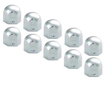 "10 Pack of 1.5"" x 1.5"" Stainless Steel Lug Nut Covers"