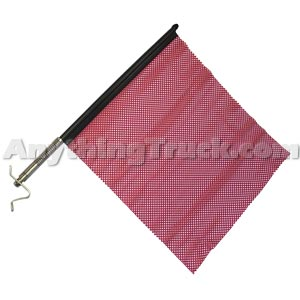PTP 2300 Red Quick Mount Oversize Load Flag Kit with Stainless Hardware