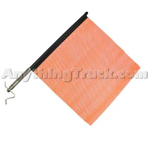 PTP 2300 Orange Quick Mount Oversize Load Flag Kit with Stainless Hardware