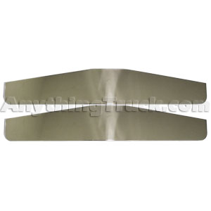 "PTP 615SS Stainless Steel 4"" x 24"" Bottom Mud Flap Plates - 1 Pair"