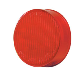 Pro LED 200RS Red 2-Inch Round LED Marker Light with Stripe Lens