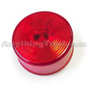 Pro LED 250RC24V 24-Volt Red 2.5-Inch Round LED Marker Light with Circle Lens