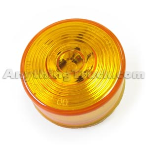 Pro LED 250YCHW Yellow 2.5-Inch Round Hard-Wired LED Marker Light with Circle Lens