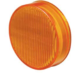 "Pro LED 250YS Yellow 2-1/2"" Round LED Clearance Light with Stripe Lens"