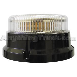 Pro LED 2599A UFO Amber LED Beacon, Clear Lens, Quad Flash, Pipe or Screw Mount, 10-30 VDC