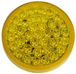 "Amber 4"" Round LED Strobe Light (Secondary) - 10-30 VDC"