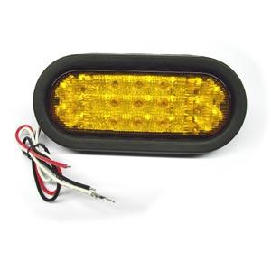 amber 6 oval led strobe light 10 30 vdc anythingtruck. Black Bedroom Furniture Sets. Home Design Ideas