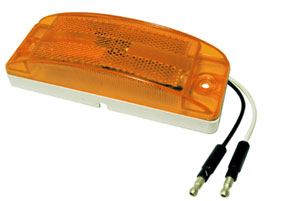 5.9-Inch Amber LED Clearance Light with Pigtail