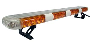 "24"" Class 1 Amber LED Light Bar with 8 Flash Patterns - 12 VDC"