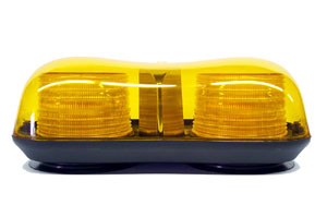 Amber Mini Light Bar LED Warning Lamp - 12 VDC