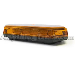 10 Function, Amber LED, Amber Lens Mini Light Bar Warning Light with Magnet Mount - 10-30 VDC