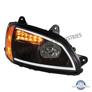 "United Pacific 31464 RH ""Blackout"" Kenworth T660 Projection Headlight - Passenger Side"