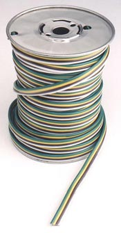 PTP 051060 3-Way Bonded Parallel Wire, 14 Gauge,  Brown, Green, and Yellow (Order Feet Needed)