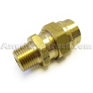"1/2"" NPT Hose Connector for 7/8"" OD x 1/2"" ID Rubber Air Brake Hose"