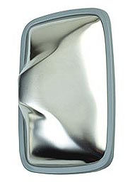 "Stainless Steel 6-1/2"" x 10"" Side Mount Mirror"