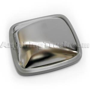 "Stainless Steel 6-1/2"" x 6"" Side Mount Convex Spot Mirror"