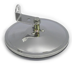 Stainless steel 6 center mount convex mirror with l for 3200 diamond eight terrace