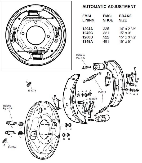 Wagner H444 Drum Brake Adjusting Spring Kit Rear