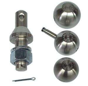 "1-7/8"", 2"", and 2-5/16"" Stainless Steel Convert-A-Ball Kit, 1"" Shank"