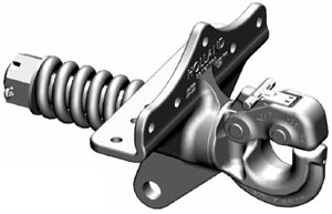SAF Holland PH-30SB41 15-Ton Swivel Type Pintle Hook with Spring Cushion, Bolt-Under Mounting System