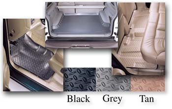 Husky Liner floor liners are available in black, grey, and tan.