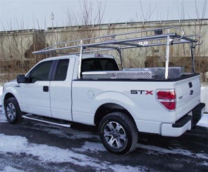Road Pro Lifetime Ladder Rack, Std. Cab Full-Size Pickups