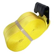 Heavy duty cargo control straps and winches