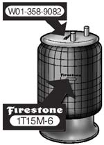 Firestone air bag identification number locations