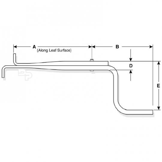 Dayton Parts 75-163 Z-Spring for Peterbilt Low Mount Air Leaf, OEM# 03-07640