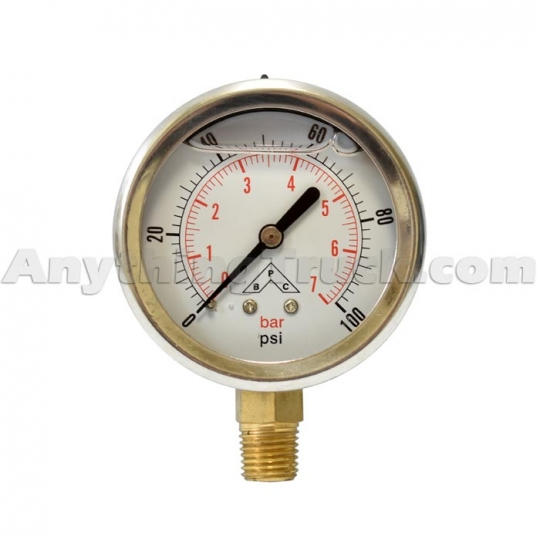 HPGS160 BUYERS SILICONE FILLED HYDRAULIC PRESSURE GAUGE
