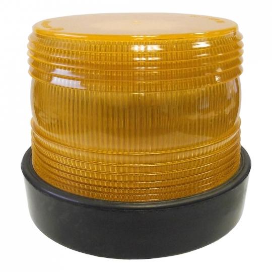 Pro LED Amber LED Flashing Light Beacon With Mirror Mounted DIN Pole Mount