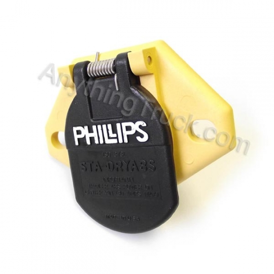 Phillips Industries 16-826 ISO QCS Harness 7-Way Wiring Socket ... on trailer plugs, trailer hitch harness, trailer mounting brackets, trailer generator, trailer fuses, trailer brakes,