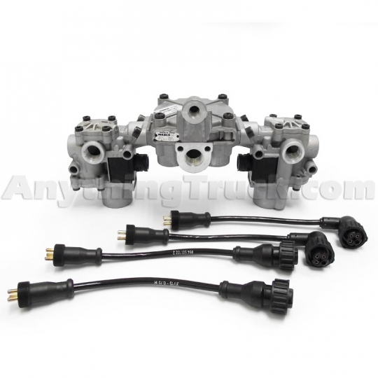 Meritor WABCO R950134 Relay Valve/Modulator Valve Kit with Adpater Cables,  S472 500 123 0 Valve Pack