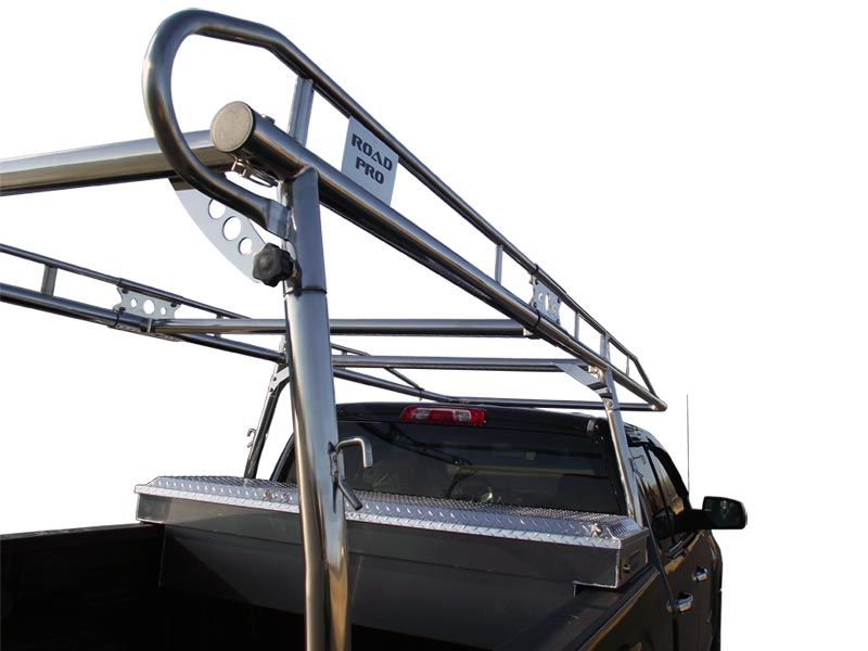 Road Pro Lifetime 304 Stainless Steel Ladder Rack Rear Bar Detail